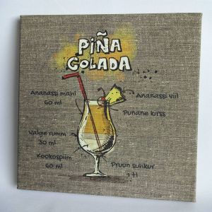 Recipe of your favourite coctail on a canvas - perfect in the kitchen!