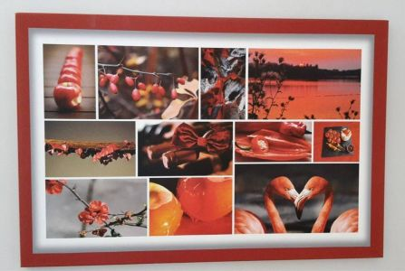 Collage of several photos - the floating frame is also printed